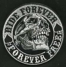 RIDE FOREVER - FOREVER FREE DEATH SKULL SPADE BIKER MOTORCYCLE PATCH