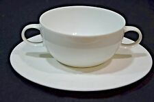 Rosenthal Magic Flute Wiinblad White Flat Cream Soup Bowl & Saucer- 8 available