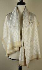 f128060c9e1 NEW LV Monogram Shine WHITE Silk Scarf Shawl 100% Authentic M74026 Louis  Vuitton