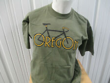Vintage Bayside Oregon Bicycle Logo Olive Green Large T-Shirt 00s 90s Preowned