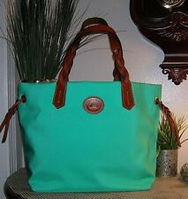 Dooney and Bourk Mint Nylon&Leather Large Tote Shopper Caryall Bag Handbags new