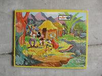 Vintage 1962 Jaymar Walt Disney Mickey Goofy Pluto Hunting Inlaid Puzzle