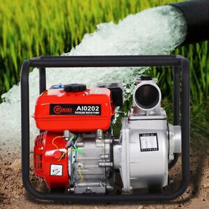"4 Stroke 3"" 6.5 HP Engine Petrol Water Pump Dirty Water Garden Pumps Pond Pump"