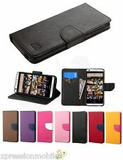 HTC Desire 555 650 626 S Phone Leather Flip Wallet Case Cover Stand Pouch Folio