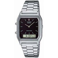 Casio Uhr AQ-230A-1DMQYES Analog Digital Herren Damen Silber Schwarz NEU & OVP