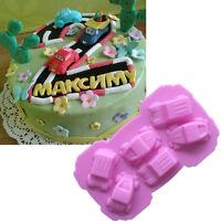 Car Silicone Mold Fondant Cake Chocolate Decorating Baking Tools Soap toy Mould