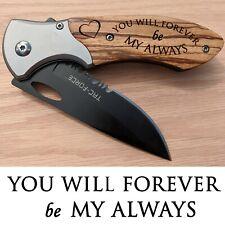 Anniversary Christmas Birthday Gift for Husband Boyfriend Engraved Pocket Knife