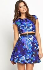 BNWT Very Bonded Satin Floral Print Cut Out Dress Size 18 RRP £59