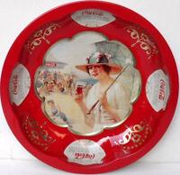 Coca-Cola - VASSOIO BOMBATO ALTO ROSSO - anno 1996-diametro cm. 26,5-h cm.4