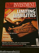 WHAT INVESTMENT #288 - FRIENDLY SOCIETIES - MARCH 2007