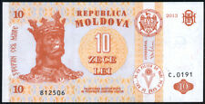 MOLDOVA   -   10  LEI   2013   -   P 10 NEW   Uncirculated Banknotes