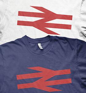 British rail logo trains model railways BR arrows t shirt
