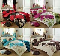 Luxury Kew Duvet Set 3 PCs Floral Duvet/Quilt Cover Set Pillow Cases Bed Set