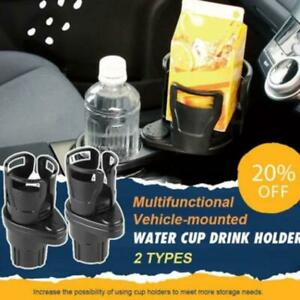 Vehicle-mounted Water Cup Drink Holder 2 in 1 Multifunctional 360° Dual Cup New