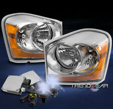 2004-2005 DODGE DURANGO CRYSTAL REPLACEMENT HEADLIGHTS LAMPS CHROME W/8K HID KIT