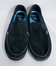 Crocs Walu Accent Canvas Black Loafer Mens size 11