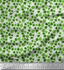 Soimoi Fabric Stripe & Leaves Print Sewing Fabric BTY - LF-140D
