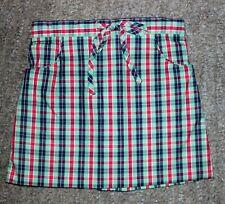 Bella Bliss Girls Green Plaid Skirt - Size 4 - EUC