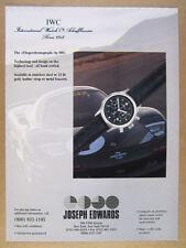 1994 IWC Fliegerchronograph Chronograph watch vintage print Ad