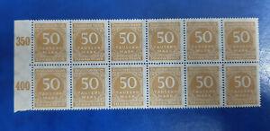 Germany Stamps Deutsches Reich 12x 50 000 Mark Block Michel Nr. 275 (16271)