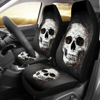 Car Seat Cover Protector Skull Car Interior Decoration Full Set of Front + Rear