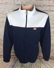 Vintage 90's Ellesse Italia Track Jacket Tracksuit Top Blue Sz Medium / M Mens