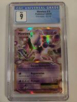CGC 9 MINT Pokemon XY Evolutions Mewtwo EX 52/108 Mint Ultra Rare - PSA BGS