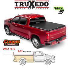 TruXedo Soft Roll Up Tonneau Bed Cover Fits 2019-2021 Silverado Sierra 5.9FT Bed