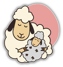 Sheep Mother With Lamb Car Bumper Sticker Decal - ''Sizes'&# 039;