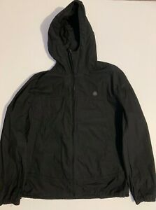 Pretty Green Black Zip Up Hooded Windbreaker Jacket Mens XL - Mod Casuals 60's