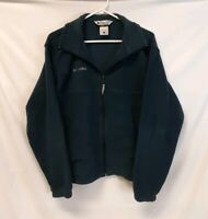 COLUMBIA SPORTSWEAR Blue Fleece Jacket Full Zip Cinched Waist Men's Size MEDIUM