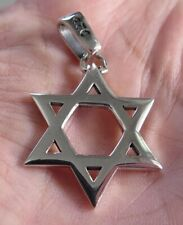 STAR OF DAVID SOLID STERLING 925 SILVER PENDANT