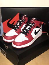 Nike Air Jordan 1 MID GS Chicago White Toe 2020 UK 6 nos 7Y 554725 173