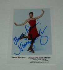HAND SIGNED AUTOGRAPH CARD - NANCY KERRIGAN OLYMPIC FIGURE SKATER 5 x 7 COLOR