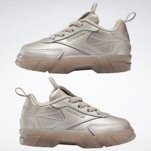 Reebok Club C Cardi B (Toddler Girl Size 10C) Athletic Sneaker Shoes Rose Gold
