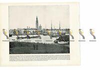 Antwerp Quays, Belgium, Book Illustration (Print), 1899