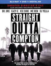 Straight Outta Compton(Blu-ray/DVD, 2016,2-Disc Set,No Digital Copy)W/slip Cover
