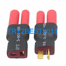 2 pcs HXT 4mm to Deans Female/Male t-plug Connector RC battery adapter wireless