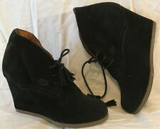 Scholl Black Ankle Suede Lovely Boots Size 38 (693QQ)