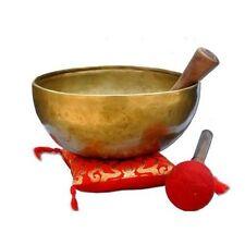 "10"" Chakra G Note Master Throat Healing Singing Bowl Meditation Handmade-NHZ"