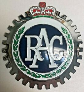 New Royal Auto Club Grille Badge- Chromed Brass- Great Gift Item!