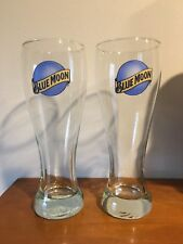"""Several (Sets of 2) - 9"""" Tall - 16 oz. Tall - Blue Moon Pilsner Glasses"""