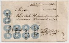 1864 CZECHOSLOVAKIA AUSTRIA COVER, 10kr BLOCK OF 8+PAIR $11300.00++