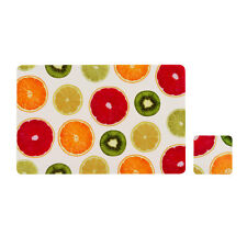 Juicy Fruity Set Of 4 Placemats And Coasters Coffee Dining Table Tableware Mats