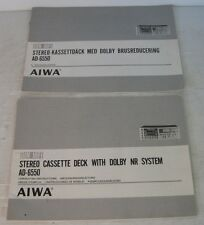 aiwa ad-6550 coppia manuali d'uso, inglese+svedese