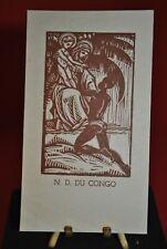 Image pieuse Notre Dame du Congo Missionnaire Père Blanc Congo belge