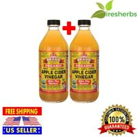 """BRAGG ORGANIC APPLE CIDER VINEGAR RAW AND UNFILTERED WITH """"THE MOTHER"""" 32 FL OZ"""
