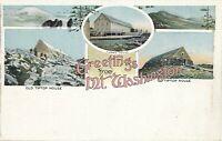 NEW HAMPSHIRE NH – Five Scenes Greetings from Mt. Washington – udb (pre 1908)