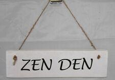 Zen Den Shed Sign Plaque Door Garage Workshop Cave Wood Rustic Home Office Decor Personalised