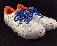 ROCA WEAR PRO KEDS ROYAL COURT MENS SIZE 13 WHITE / MULTI-COLOR WORN SNEAKERS